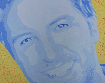 "Luke Bryan Portrait by Victoria Schweizer 36x48"" Acrylic on Canvas"