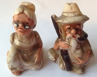 Hillbilly salt and pepper shakers