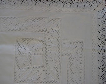 Eyelet Pillow Sham with Monogram