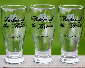 Mother of the Bride, Father of the Groom, Mother of the Groom, Father of the Bride/Groom. This listing is for one glass
