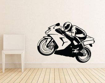 Motorcycle Gifts Motorcycle Wall Art Decal Decor Vinyl Sticker motorcycle wall decal motorcycle decal motorcycle decor motorcycle sticker