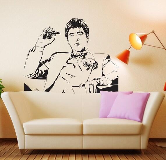 Scarface movie tony montana wall decal decor sticker vinyl for Scarface decor