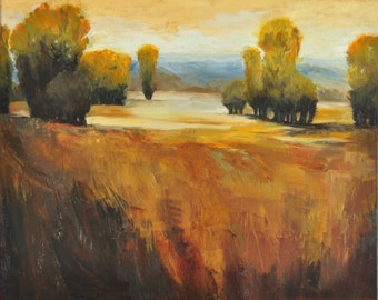 "Landscape-very first autumn-Original oil painting on 16X20"" canvas"