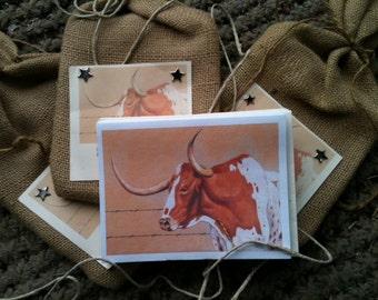 "Longhorn greeting cards: ""Hook 'em"" - Great gifts!"