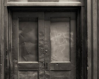 Seattle Photography, Urban, Door, Industrial, Architecture, Fine Art Black and White Photography, Wall Art, Home Decor