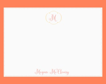 Monogram + name personalized stationery-FREE SHIPPING or DIY printable