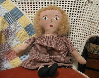 Primitive Folk Art, Primitive Folk Art Dolls, Primitive Folk Art Miss Dolly, OFG, FAAP, HAFair