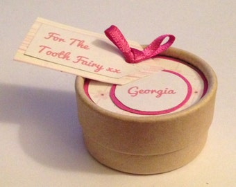 Tooth Fairy Keepsake Box Personalised with any name