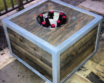 Popular items for table with cooler on etsy for Outdoor coffee table with cooler