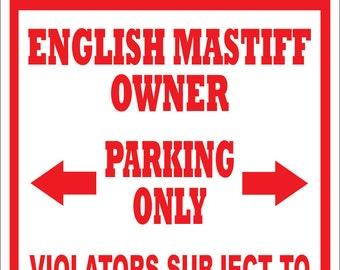English Mastiff Sign Etsy
