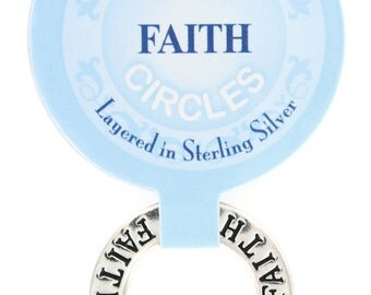 FAITH Infinity Circle Pendant Affirmation Ring