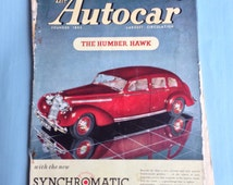 """Vintage September 26th 1947 """"The Autocar"""" weekly car magazine"""