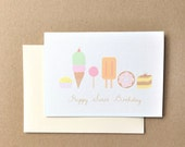 Happy birthday card, Sweets