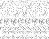 Simple flowers set 1 - Digital Stamp