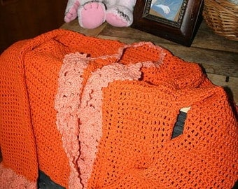Jacket knitted Orange
