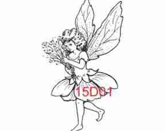 Skipping Fairy Rubber Stamp - 15D01