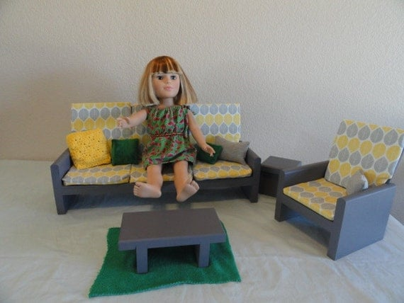 AG Doll Furniture Livingroom Couch & Chair by