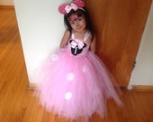 1st birthday Minnie Mouse outfit with matching ears Minnie Mouse tutu dress