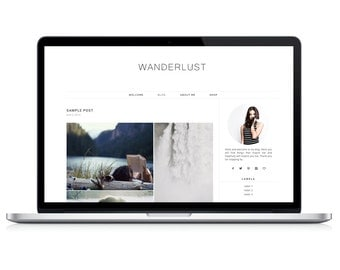 Wordpress Theme - Wanderlust - Responsive Wordpress Blog Design - Wordpress Template - Wordpress Theme Feminime - Wordpress Theme Modern