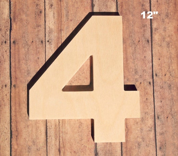 unfinished 12 decorative wooden number 12 inch number four wood 4