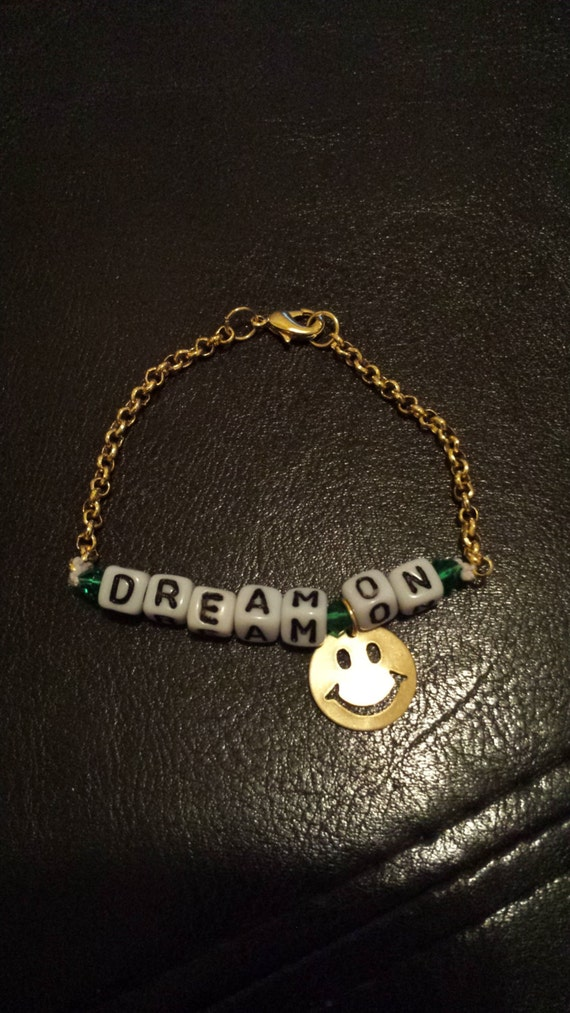 Dream On Bead and Chain Bracelet