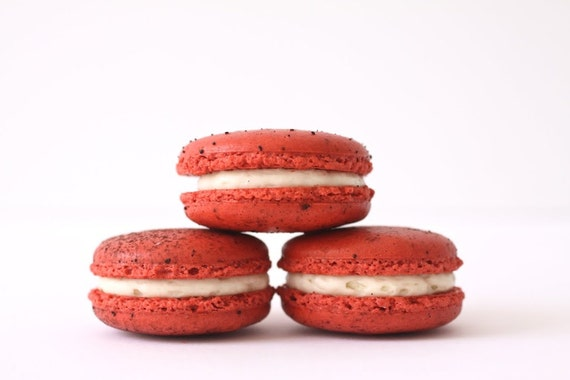 Red Macaron Recipe Red Velvet French Macarons