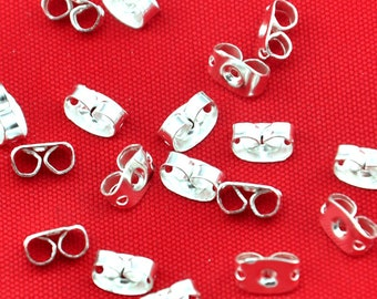 200pcs Silver Plated  Base metal Earring Back Stoppers ----E0019