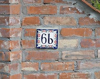 Unique Ceramic House Number! Hand-Made!