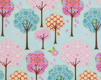 Pretty Little Things, Teal, Free Spriti Fabrics,Aqua trees