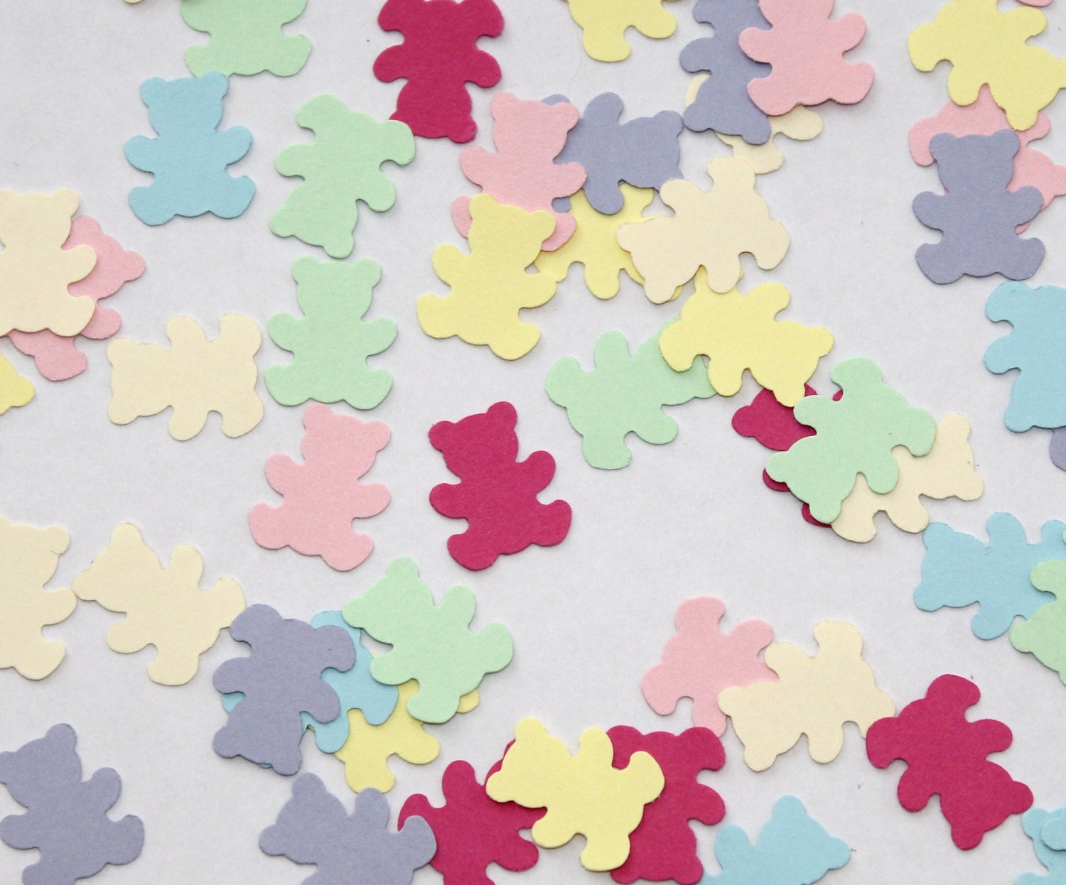 baby shower bear confetti pastel table by wordfromthejbird