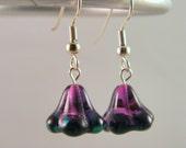 Playful Purple Bell Flower Earrings