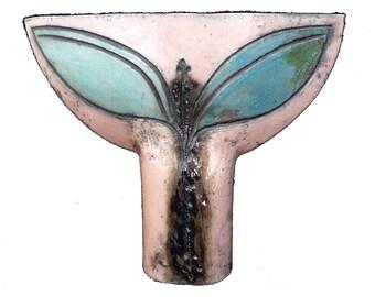 Glazed Dragonfly Vase