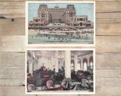 Hotel Dennis, Atlantic City, New Jersey Vintage Travel Postcards, set of 2 - vintage post card