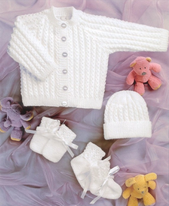 Vintage Knitting Patterns Baby Hats : BHKC 35 Vintage baby knitting pattern newborn by ...