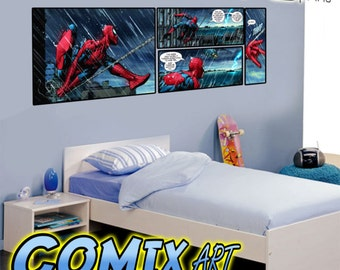 kids bedroom wall sticker decal c omic book theme very large