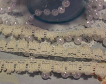 Ivory Cotton Crochet Lace Trim