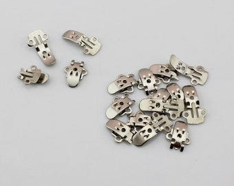 100 pcs/lot Silver Shoe Clips Blanks Shoe Accessories to Stick Decoration/ Jewel