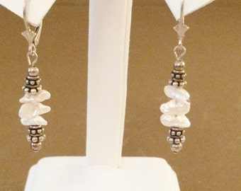 Sterling Silver And Freshwater Pearl Earrings