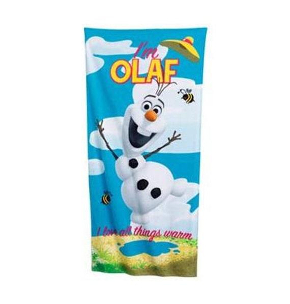 Frozen OLAF Beach Towel Personalized Beach Towel