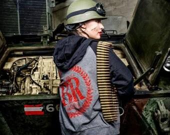 SALE Battle Royale zip up front baseball hoodie