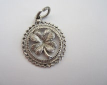 4 Leaf Clover Silver Charm, Silver Charms, Silver Jewellery, Lucky Jewellery