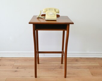 Vintage Solid Wood Telephone Table