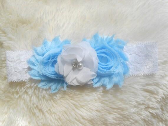Shabby Flowers Baby Headband, Newborn Headband,  Infant Headband,Baby Headband, Headband Baby