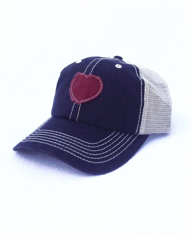 s mesh trucker hat navy blue baseball by