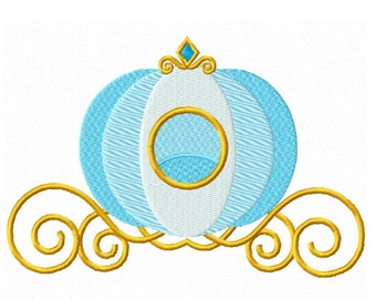Princess Carriage Fill Machine Embroidery DESIGN NO. 272