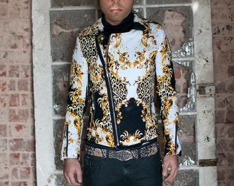 Leopard Biker Jacket  combination of elegance and audacity