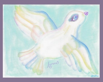 "Original Pastel Painting Framed Print 18 x 24 ""Avian Aurora"""