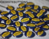 Custom 1 in inch pin back buttons with your logo design or image great for bands, party favors, businesses, artists and more
