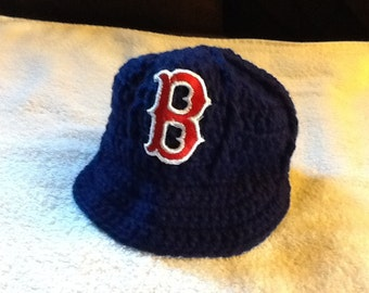 Boston Red Sox Newborn Crochet Baseball Cap - Photographer Prop