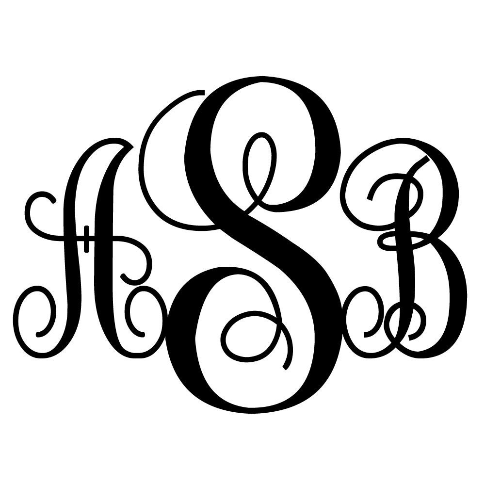 Unusual image with regard to printable monogram